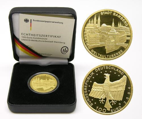 Lieferumfang:Deutschland : 100 Euro Bamberg Buchstabe unserer Wahl  2004 Stgl.