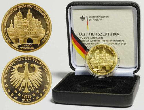Lieferumfang:Deutschland : 100 Euro Trier - Römische Baudenkmäler Dom und Liebfrauenkirche  2009 Stgl. 100 Euro Trier 2009 F