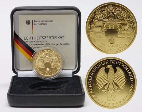 Lieferumfang:Deutschland : 100 Euro Würzburger Residenz und Hofgarten  2010 Stgl. 100 Euro Würzburg 2010 J