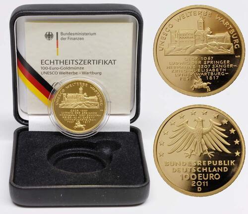 Lieferumfang:Deutschland : 100 Euro Wartburg bei Eisenach  2011 Stgl.