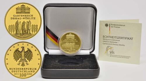 Lieferumfang:Deutschland : 100 Euro Gartenreich Dessau-Wörlitz  2013 Stgl.