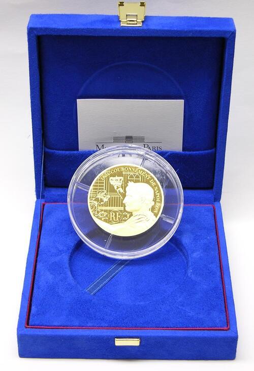 Lieferumfang:Frankreich : 100 Euro 200 Jahrfeier der Krönung Napoleons inkl. Originaletui und Zertifikat  2004 PP