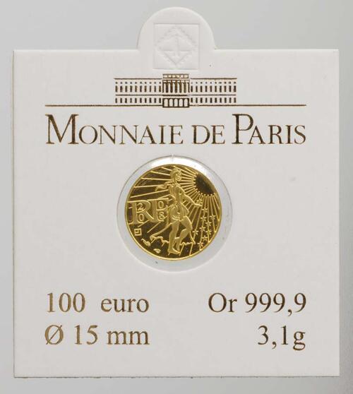 Lieferumfang:Frankreich : 100 Euro Säerin original verpackt  2008 Stgl. 100 Euro Säerin 2008