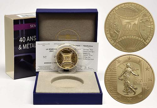 Lieferumfang:Frankreich : 100 Euro MetalMorphoses - Pessac  2013 PP
