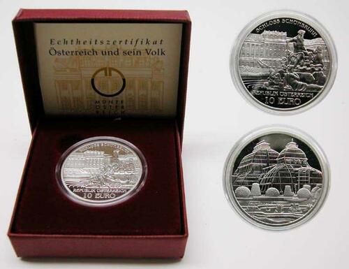 Lieferumfang:Österreich : 10 Euro Schloß Schönbrunn  2003 PP