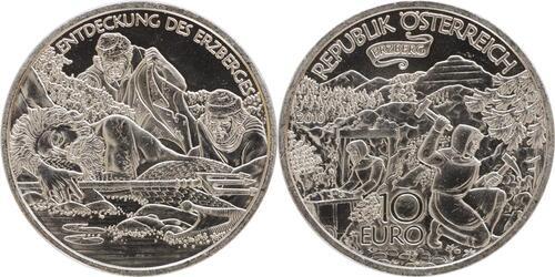 Lieferumfang:Österreich : 10 Euro Erzberg in der Steiermark  2010 Stgl. 10 Euro Steiermark 2010