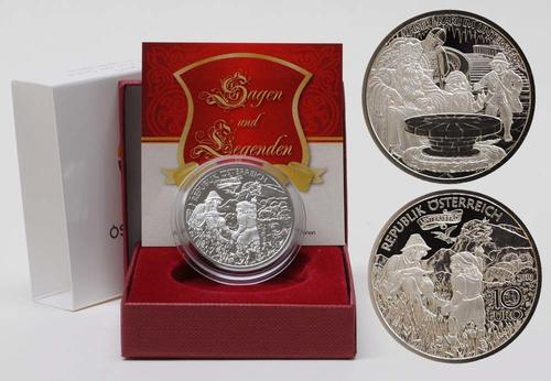 Lieferumfang:Österreich : 10 Euro Karl der Große im Untersberg inkl. Originaletui und Zertifikat  2010 PP 10 Euro Karl der Große 2010