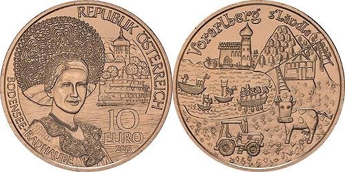 Lieferumfang:Österreich : 10 Euro Vorarlberg  2013 Stgl.