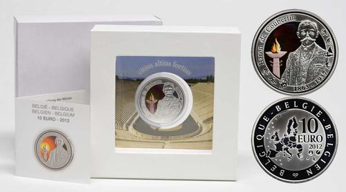 Lieferumfang:Belgien : 10 Euro De Coubertin  2012 PP