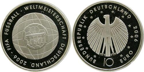 Lieferumfang:Deutschland : 10 Euro IV. Ausgabe FIFA Fußball WM Deutschland  2006  2006 PP