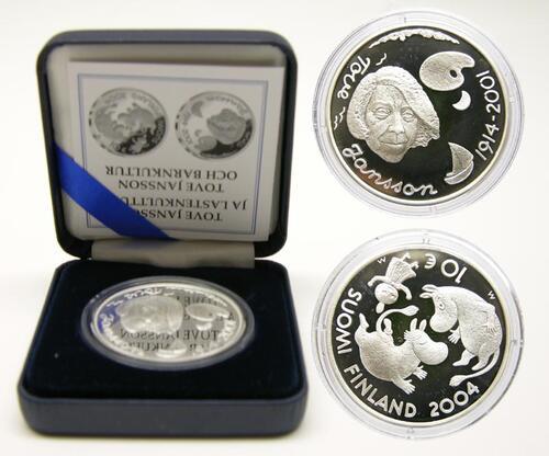 Lieferumfang:Finnland : 10 Euro Moomin / Tove Jansson inkl. Originaletui und Zertifikat  2004 PP
