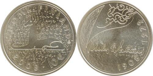 Lieferumfang:Finnland : 10 Euro Mika Toimi Waltari in Originalkapsel mit  Zertifikat  2008 Stgl. 10 Euro Mika Waltari Stgl.