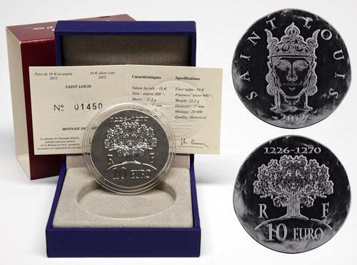 Lieferumfang:Frankreich : 10 Euro Saint Louis IX  2012 Stgl.