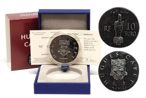 Lieferumfang:Frankreich : 10 Euro Hugues Capet  2012 Stgl.