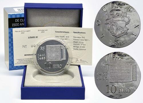 Lieferumfang:Frankreich : 10 Euro Louis XI.  2013 vz/Stgl.