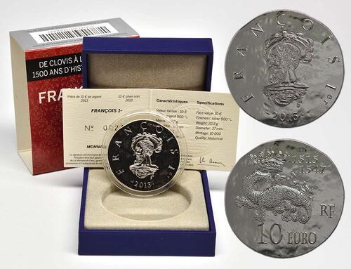 Lieferumfang:Frankreich : 10 Euro Francois I.  2013 Stgl.