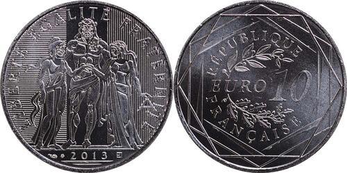 Lieferumfang:Frankreich : 10 Euro Hercules  2013 Stgl.