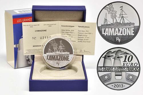 Lieferumfang:Frankreich : 10 Euro L'Amazone  2013 PP