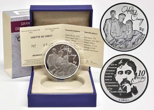 Lieferumfang:Frankreich : 10 Euro Odette de Crécy  2013 PP