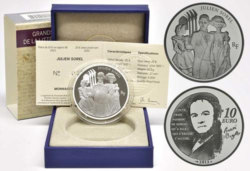 Lieferumfang:Frankreich : 10 Euro Julien Sorel  2013 PP