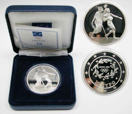 Lieferumfang:Griechenland : 10 Euro Ausgabe VI. : Handball  2004 PP