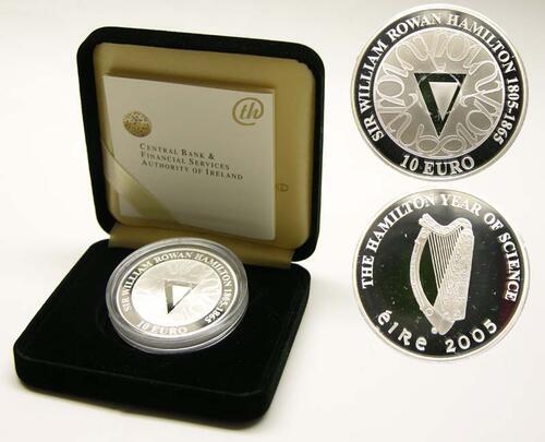 Lieferumfang:Irland : 10 Euro Hamilton Jahr inkl. Originaletui und Zertifikat  2005 PP