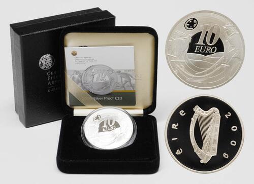 Lieferumfang:Irland : 10 Euro Ploughman Banknoten inkl. Originaletui und Zertifikat  2009 PP 10 Euro Irland 2009