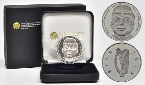 Lieferumfang:Irland : 10 Euro 50 Jahre Irlandbesuch v. J. F. Kennedy  2013 PP