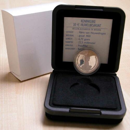 Lieferumfang:Niederlande : 10 Euro auf die Hochzeit  Wilhelm-Alexander und Maxima  2002 P/L