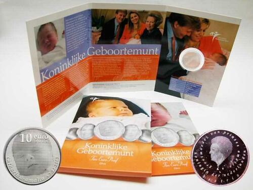 Lieferumfang:Niederlande : 10 Euro Geburt Prinzessin Catharina-Amalia  2004 PP