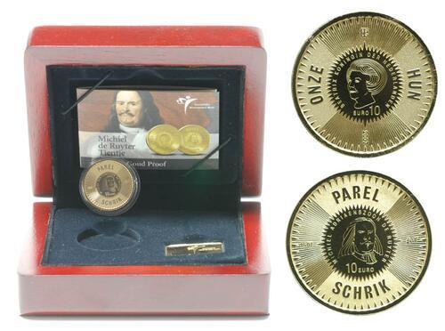Lieferumfang:Niederlande : 10 Euro de Ruyter inkl. Originaletui und Zertifikat  2007 PP 10 Euro de Ruyter