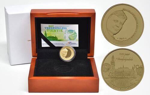 Lieferumfang:Niederlande : 10 Euro 100 Jahre Friedenspalast  2013 PP