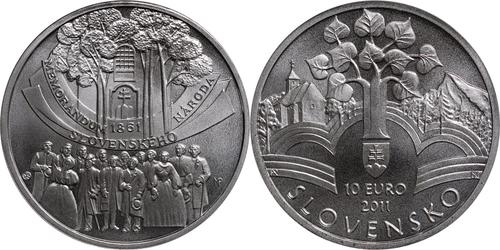 Lieferumfang:Slowakei : 10 Euro Memorandum  2011 Stgl.