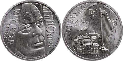 Lieferumfang:Slowakei : 10 Euro Jan Cikker  2011 Stgl.