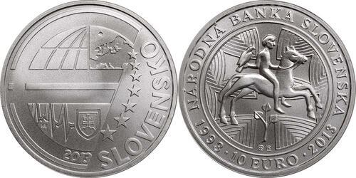 Lieferumfang:Slowakei : 10 Euro Nationalbank  2013 Stgl.