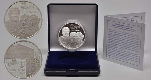 Lieferumfang:Slowakei : 10 Euro 150. Jahrestag der Matica Slovenska  2013 PP