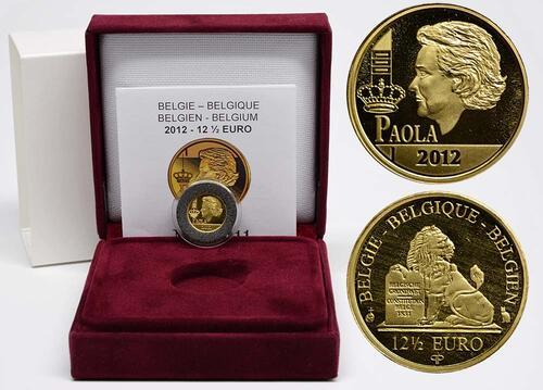 Lieferumfang:Belgien : 12,5 Euro Königin Paola  2012 PP