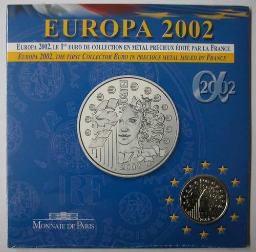 Lieferumfang:Frankreich : 1/4 Euro Europa-Münze in Originalverpackung  2002 Stgl.
