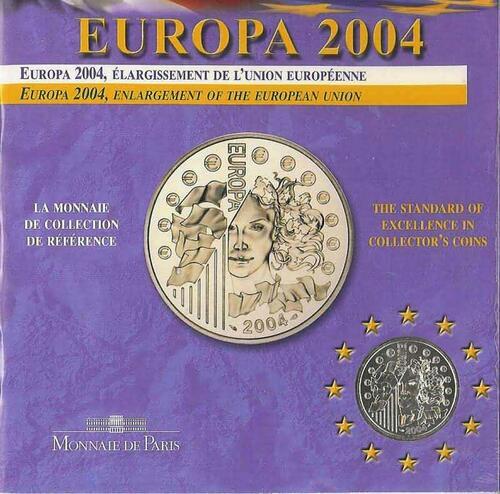 Lieferumfang:Frankreich : 1/4 Euro Europa-Münze in Originalverpackung  2004 Stgl.