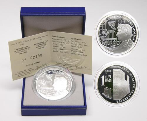 Lieferumfang:Frankreich : 1,5 Euro 200 Jahrfeier der Krönung Napoleons  2004 PP