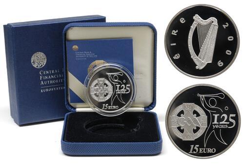 Lieferumfang:Irland : 15 Euro 125 Jahre GAA inkl. Originaletui und Zertifikat  2009 PP 15 Euro GAA