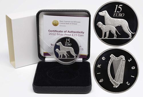 Lieferumfang:Irland : 15 Euro Hund / Hound  2012 PP