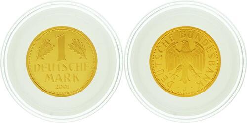 Lieferumfang:Deutschland : 1 DM Goldmünze  2001 Stgl. Goldmark