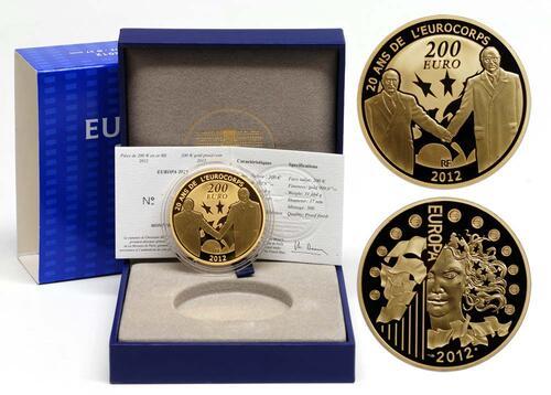 Lieferumfang:Frankreich : 200 Euro 20 Jahre Eurokorps  2012 PP