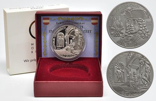 Lieferumfang:Österreich : 20 Euro Barockzeit / Prinz Eugen  2002 PP