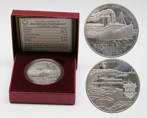 Lieferumfang:Österreich : 20 Euro Handelsmarine  2006 PP 20 Euro Handelsmarine; Österreich