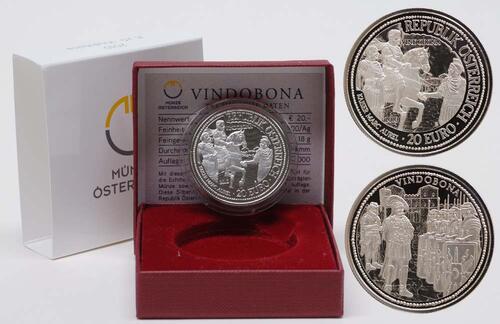 Lieferumfang:Österreich : 20 Euro Vindobona  2010 PP 20 Euro Vindobona 2010