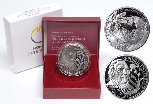 Lieferumfang:Österreich : 20 Euro Nikolaus Joseph von Jacquin  2011 PP