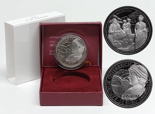 Lieferumfang:Österreich : 20 Euro Aguntum  2011 PP