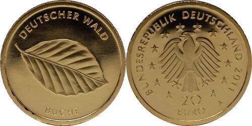 Lieferumfang:Deutschland : 20 Euro Buche Buchstabe unserer Wahl  2011 Stgl.